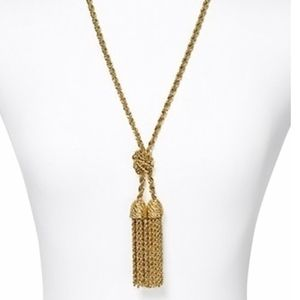 Kate Spade Fringe Benefits Tassel Gold Necklace